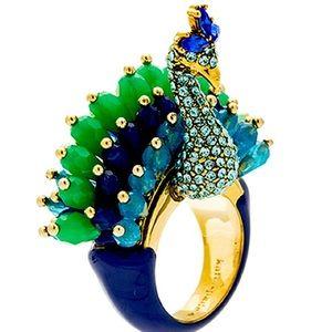 NWT Rare Kate Spade Plume Peacock 🦚 Ring Size 6